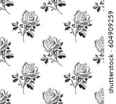 pattern with black and white... | Shutterstock .eps vector #604909259