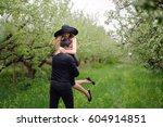 wonderful love story in photos. ... | Shutterstock . vector #604914851
