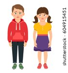 crying kids characters vector... | Shutterstock .eps vector #604915451