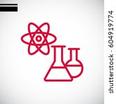 laboratory icon flat. | Shutterstock .eps vector #604919774