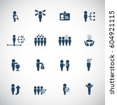 human resources icon set | Shutterstock .eps vector #604921115