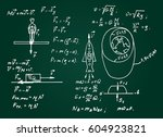 the law of force of gravity.... | Shutterstock .eps vector #604923821