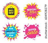 sale splash banner  special... | Shutterstock .eps vector #604928279