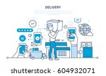 full cycle of ordering ... | Shutterstock .eps vector #604932071