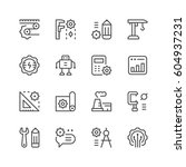 set line icons of engineering | Shutterstock .eps vector #604937231