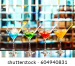 multicolored cocktails at the... | Shutterstock . vector #604940831