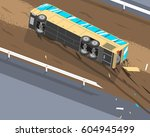 the driver of the passenger bus ... | Shutterstock .eps vector #604945499