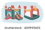 vector cartoon funny... | Shutterstock .eps vector #604945601