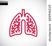 lungs icon flat. | Shutterstock .eps vector #604946519