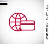credit kard icon flat.   Shutterstock .eps vector #604948511