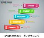 timeline infographic data... | Shutterstock .eps vector #604953671