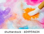 abstract watercolor painting... | Shutterstock . vector #604954634