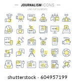 set vector line icons  sign and ... | Shutterstock .eps vector #604957199