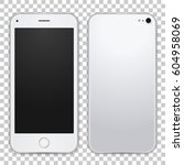 white mobile phone concept ... | Shutterstock .eps vector #604958069