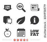 low fat arrow icons. diets and... | Shutterstock .eps vector #604958579