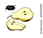 pear vector drawing. isolated... | Shutterstock .eps vector #604959089