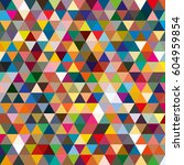 abstract geometric colorful... | Shutterstock . vector #604959854