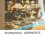 rich variety of chocolates and... | Shutterstock . vector #604962971
