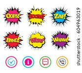 comic wow  oops  boom and wham... | Shutterstock .eps vector #604963019