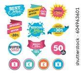 sale banners  online web... | Shutterstock .eps vector #604963601