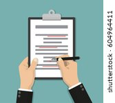 editing documents to correct... | Shutterstock .eps vector #604964411