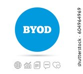 byod sign icon. bring your own... | Shutterstock .eps vector #604964969