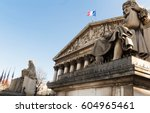 The French national Assembly-Bourbon palace(the lower house of the parliament), Paris, France.