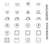 laundry symbol vector | Shutterstock .eps vector #604967249