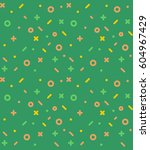 geometric pattern with circles  ... | Shutterstock .eps vector #604967429