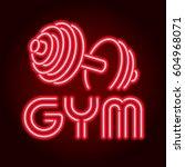 fitness center gym room. led... | Shutterstock .eps vector #604968071