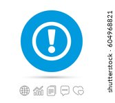 attention sign icon.... | Shutterstock .eps vector #604968821