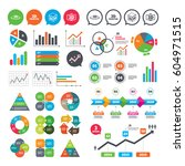 business charts. growth graph.... | Shutterstock .eps vector #604971515