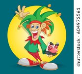 april fool's day clown | Shutterstock .eps vector #604973561