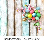 Easter Eggs With Flower...