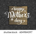 greeting poster with hand made... | Shutterstock .eps vector #604984397