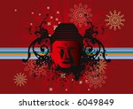 buddha face color background | Shutterstock .eps vector #6049849