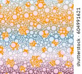 retro colorful dots pattern.... | Shutterstock .eps vector #604991621