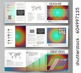 business templates for tri fold ... | Shutterstock .eps vector #604997135