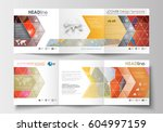 set of business square... | Shutterstock .eps vector #604997159