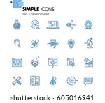 trendy flat line icon pack for...   Shutterstock .eps vector #605016941