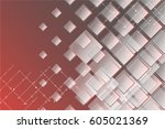 square mosaic vector background ... | Shutterstock .eps vector #605021369