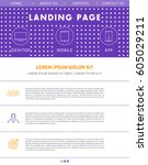 landing page concept  flat...