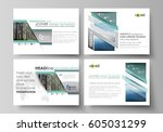 set of business templates for... | Shutterstock .eps vector #605031299