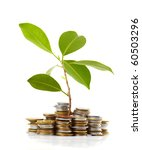 coins sprout | Shutterstock . vector #60503296