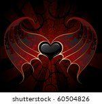 gothic black heart of a vampire ...