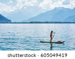 montreux  switzerland   august... | Shutterstock . vector #605049419