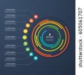 presentation infographic circle ... | Shutterstock .eps vector #605061707