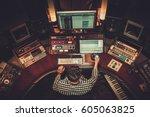 sound engineer working in... | Shutterstock . vector #605063825