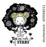 vector illustration astronaut...   Shutterstock .eps vector #605068211