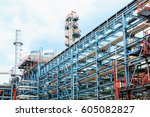 oil and gas industry  ... | Shutterstock . vector #605082827